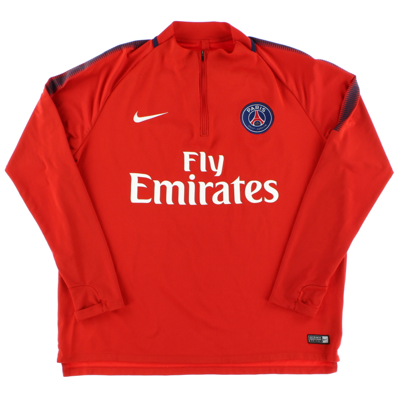 2017-18 Paris Saint-Germain Nike 1/4 Zip Training Top XL - 854524-676