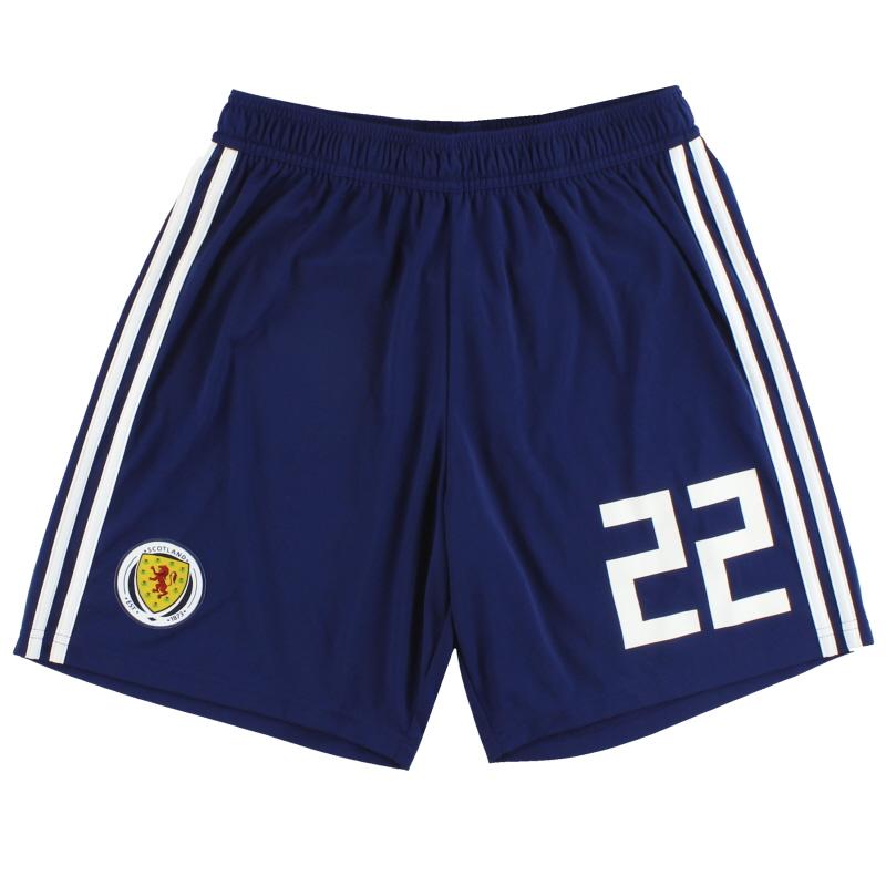 2017-18 Scotland adidas Player Issue Home Shorts #22 *As New* M - BQ9028