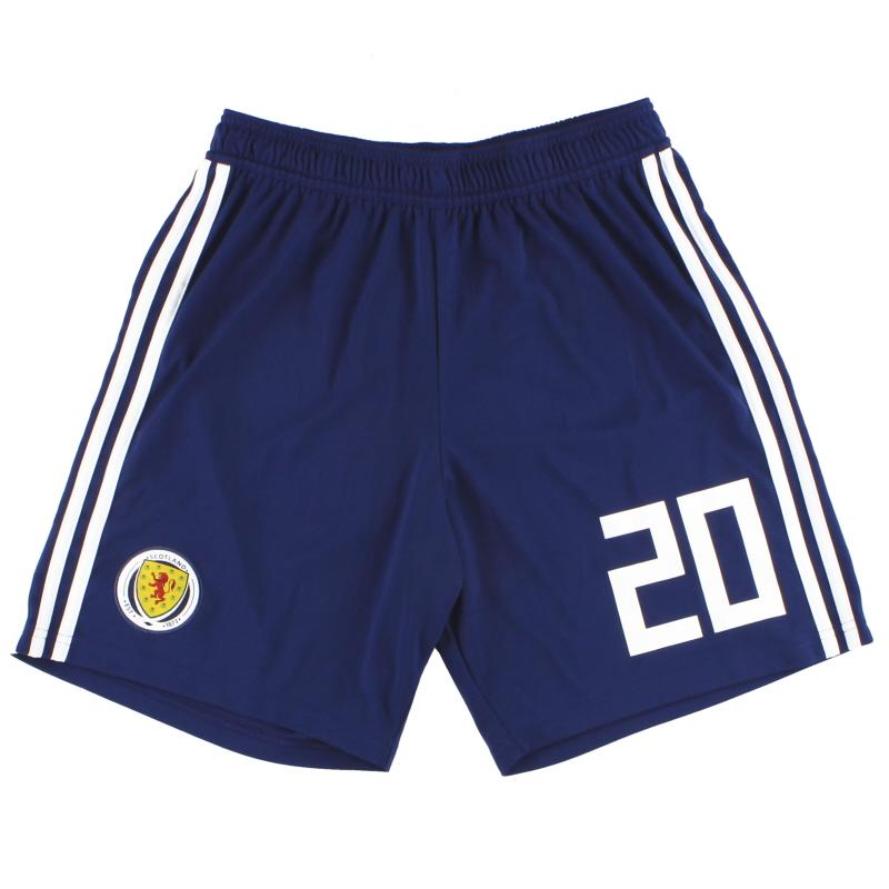 2017-18 Scotland adidas Player Issue Home Shorts #20 *As New* M - BQ9028