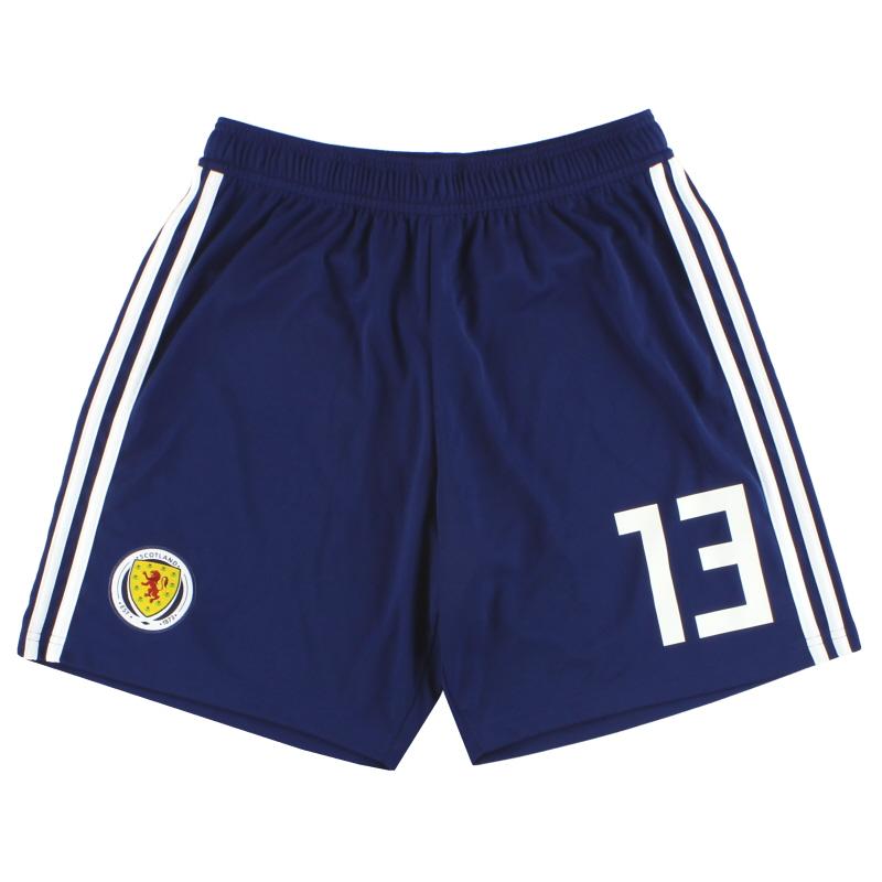 2017-18 Scotland adidas Player Issue Home Shorts #13 *As New* M - BQ9028