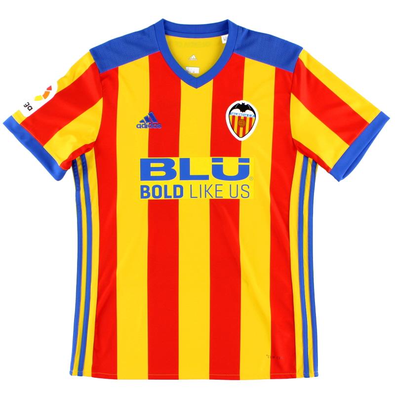 2017-18 Valencia Away Shirt #10 *Mint* M - BS3859