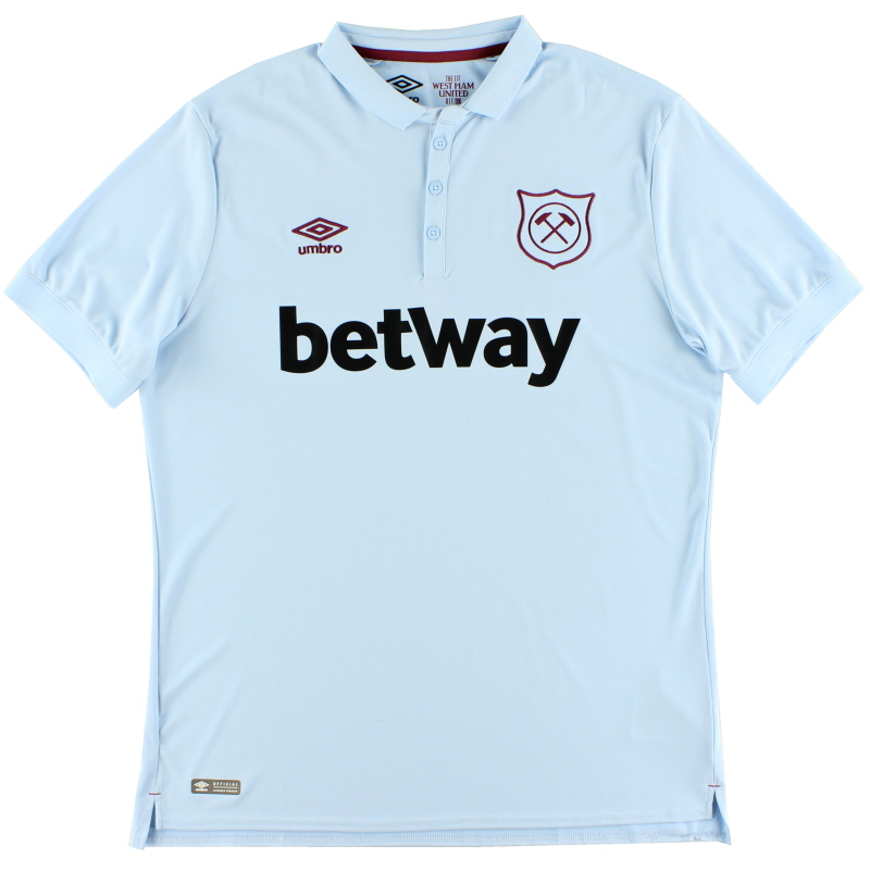 2017-18 West Ham Third Shirt *Mint* XL