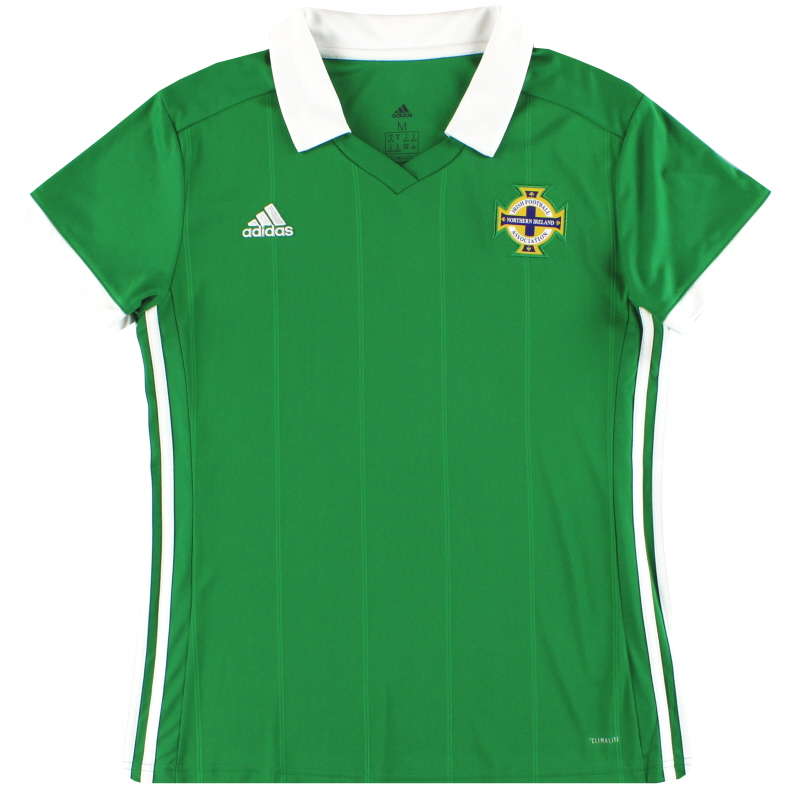 2017-19 Northern Ireland adidas Home Shirt *Mint* Women's M - CW5301