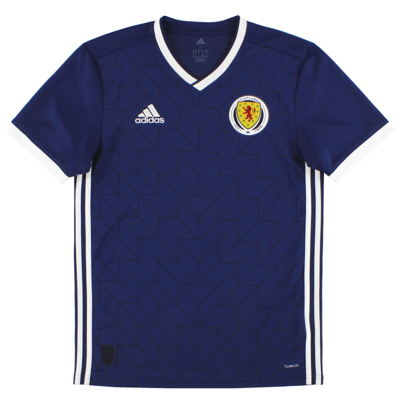 2017-19 Scotland adidas Home Shirt S - BR8131