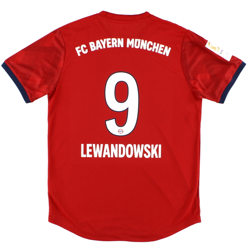 2018-19 Bayern Munich Player Issue Home Shirt Lewandowski #9 L - CW1526