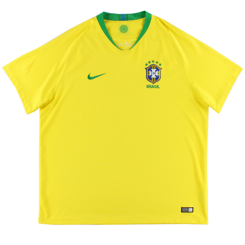 2018-19 Brazil Home Shirt XXL - 893856-749