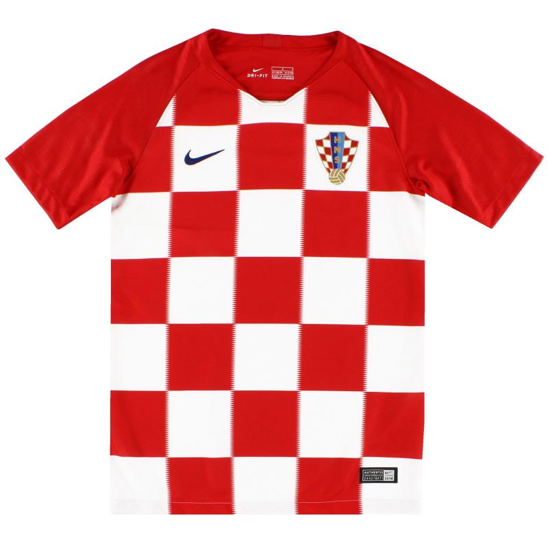 2018-19 Croatia Home Shirt *As New* M.Boys - 893980-657