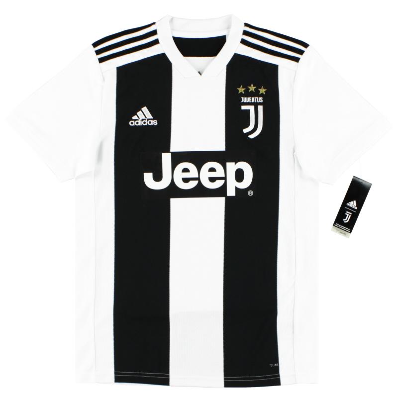 2018-19 Juventus adidas Home Shirt  *BNIB* M.Boys - CF3496