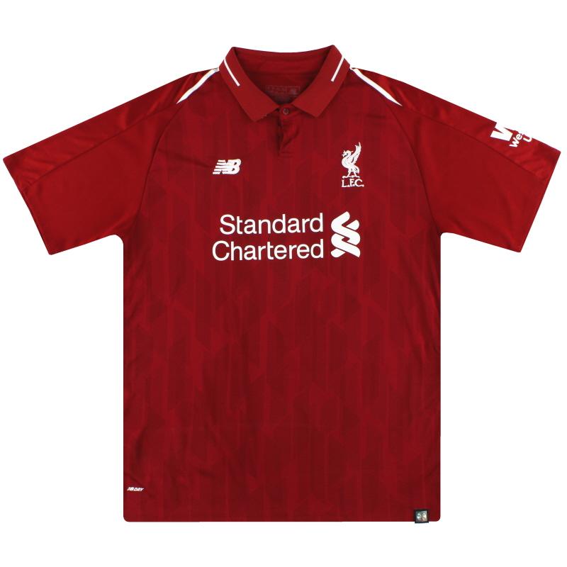 2018-19 Liverpool New Balance Home Shirt XL - WSTM200