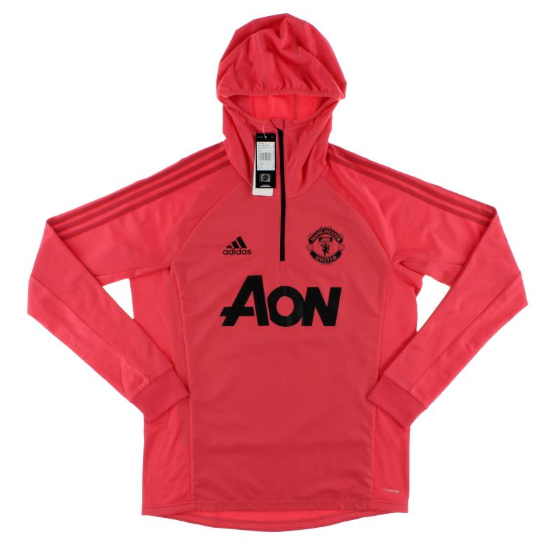 2018-19 Manchester United 1/4 Zip Hooded Training Top L/S *BNIB* M - CW7624