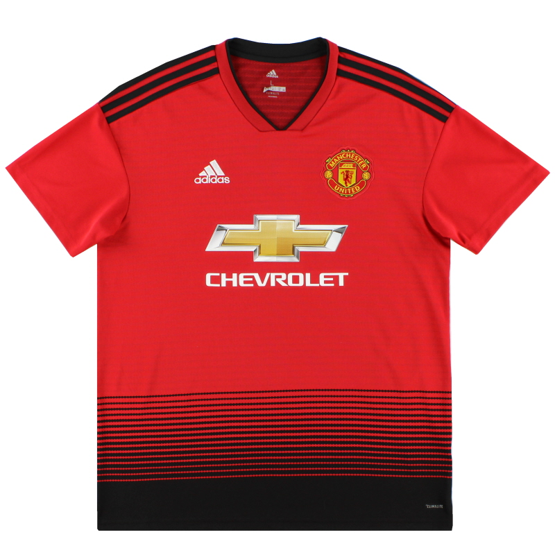 2018-19 Manchester United adidas Home Shirt L - CG0040