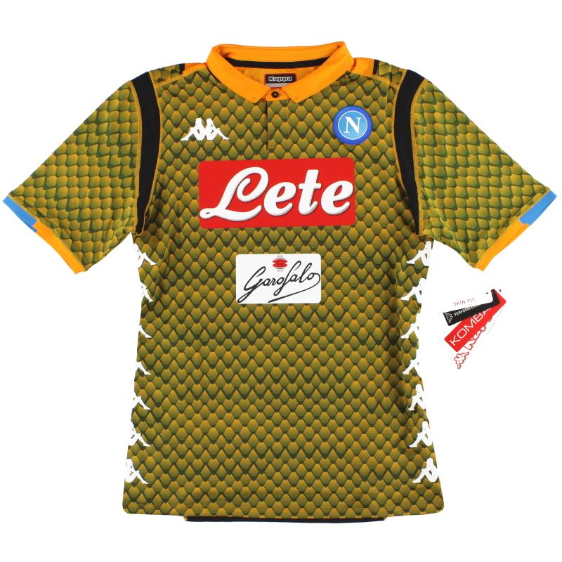 2018-19 Napoli Kappa Kombat Goalkeeper Shirt *BNIB* - 303GF10