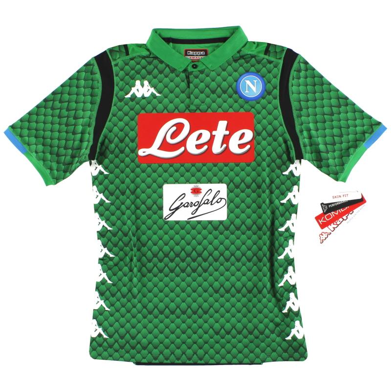 2018-19 Napoli Kappa Kombat Goalkeeper Shirt *BNIB* S - 3032TD0