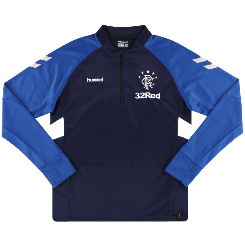 2018-19 Rangers Hummel Training 1/2 Zip Sweat Top M - 203906