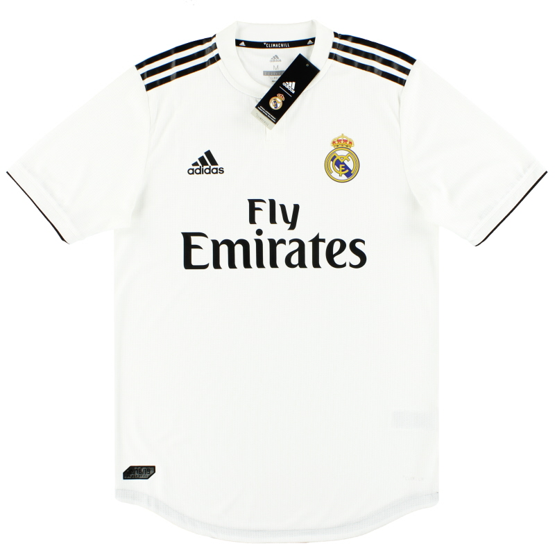 2018-19 Real Madrid adidas Player Issue Authentic Home Shirt *w/tags* M - CG0561
