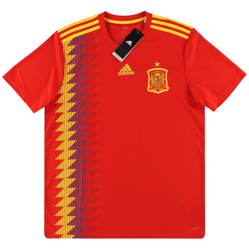 2018-19 Spain adidas Home Shirt *w/tags* M - CX5355
