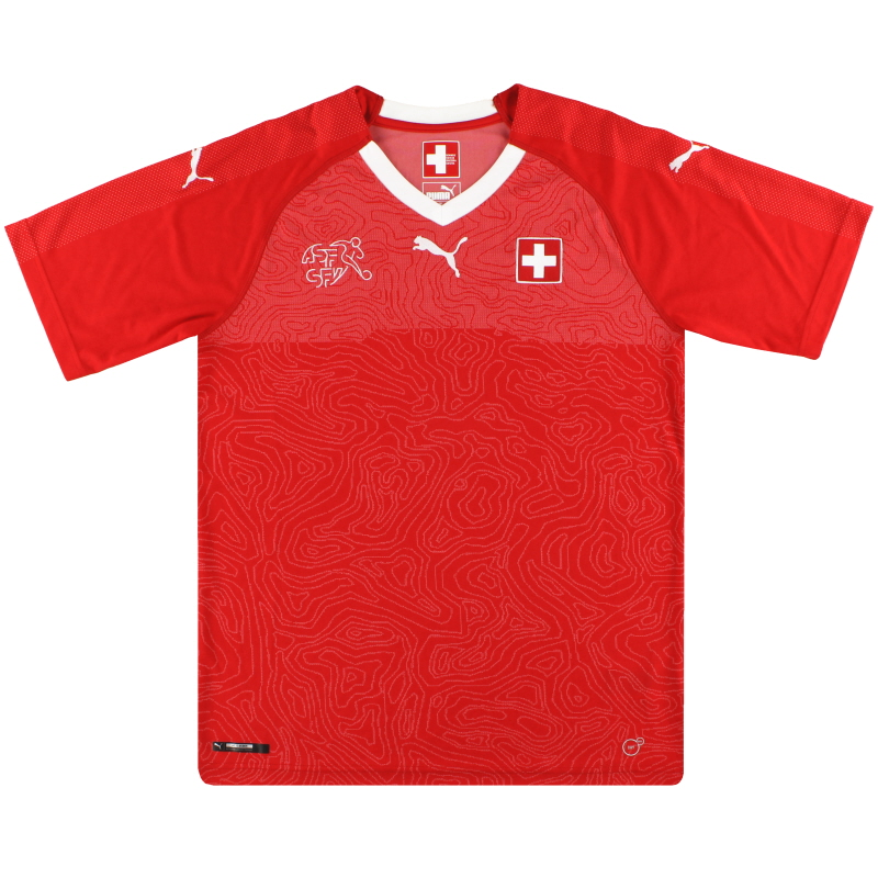 2018-19 Switzerland Puma Home Shirt *Mint* M - 752478-01