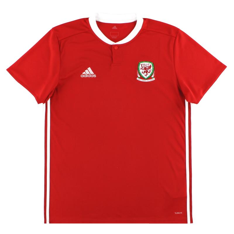 2018-19 Wales adidas Home Shirt XS - BP9982