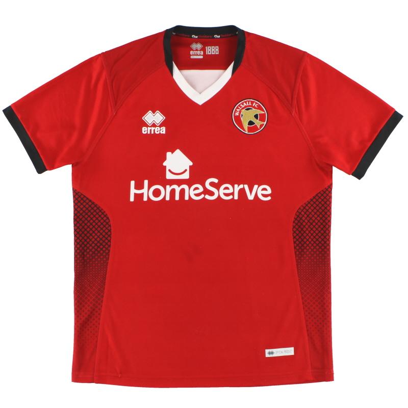 2018-19 Walsall Errea Home Shirt S