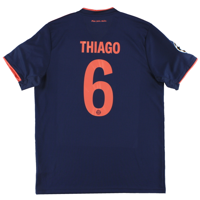 2019-20 Bayern Munich adidas CL Third Shirt Thiago #6 *Mint* L - DW7411
