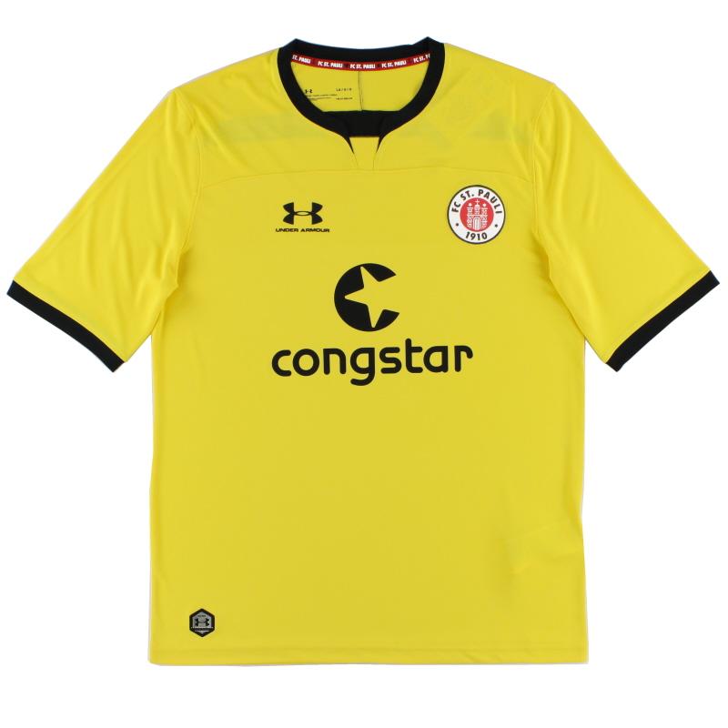 2019-20 FC St. Pauli Yellow Goalkeeper Shirt *As New* XL - 1332349-793
