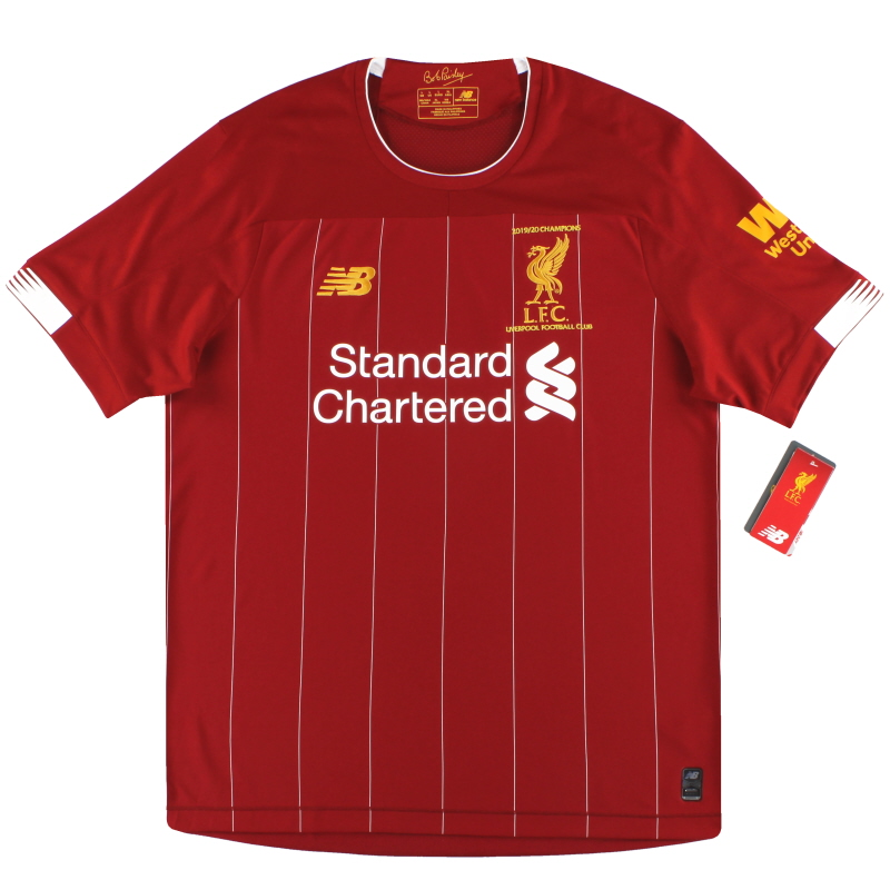 2019-20 Liverpool New Balance 'Champions' Home Shirt *w/tags* L - 377128-08