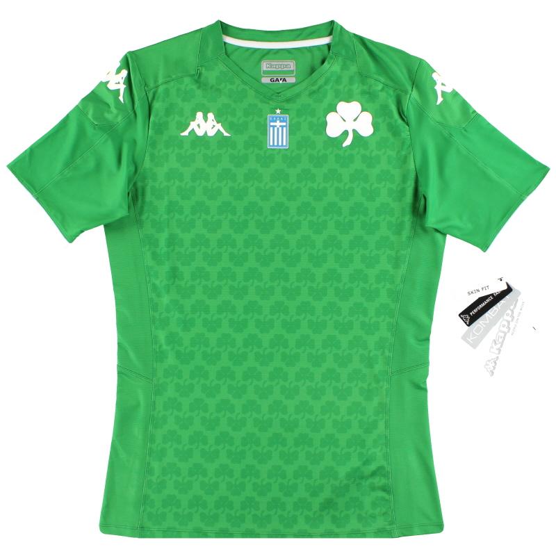 2019-20 Panathinaikos Kappa Kombat Pro Home Shirt *BNIB* - 3111EGW