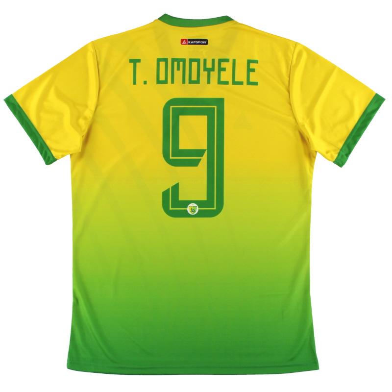 2019-20 Plateau United Kapspor Player Issue Home Shirt T.Omoyele #9 *w/tags* L
