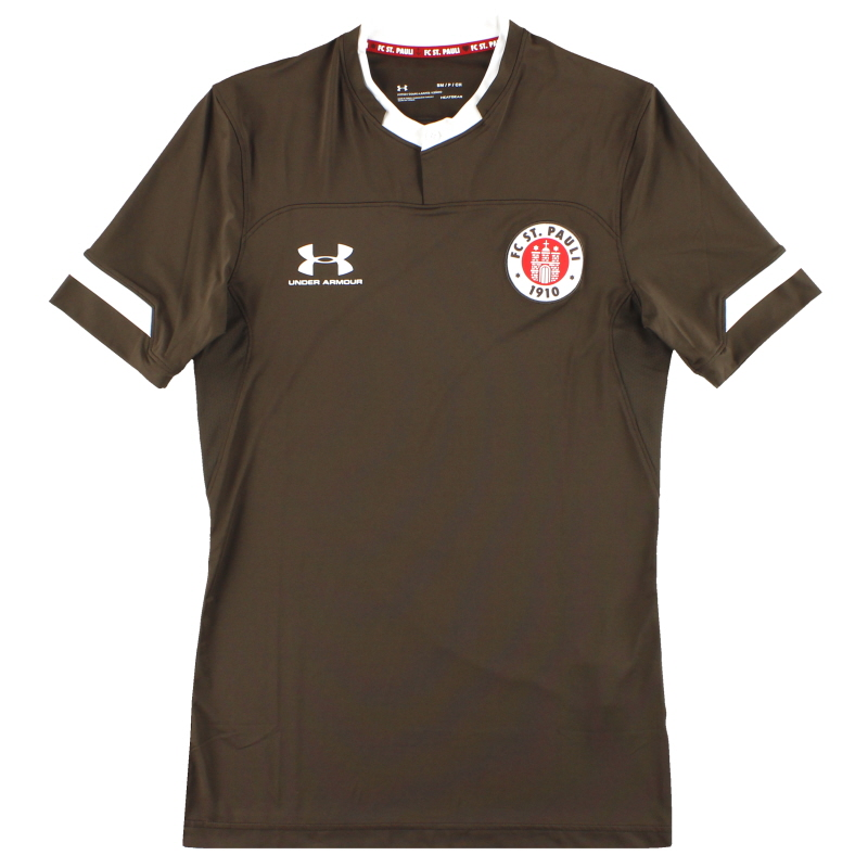 2019-20 St Pauli Under Armour Player Issue Home Shirt *As New* S - 1330015