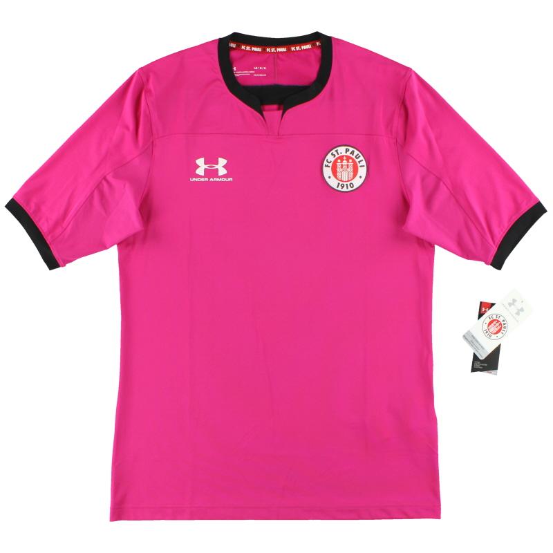 2019-20 St Pauli Under Armour Pink Goalkeeper Shirt *w/tags* XL - 1332345