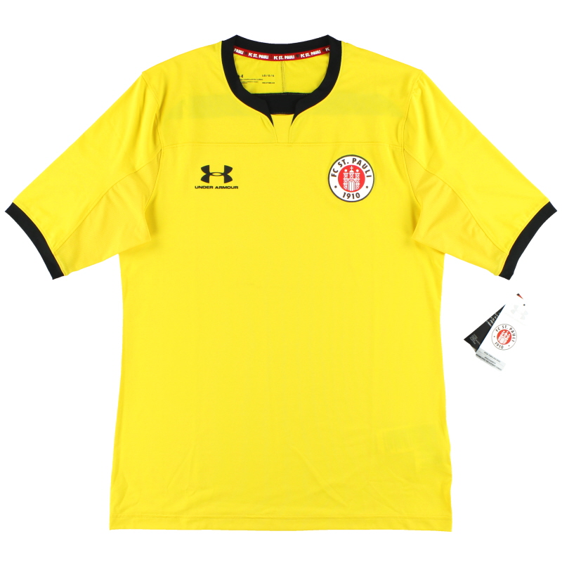 2019-20 St Pauli Under Armour Yellow Goalkeeper Shirt *w/tags* L - 1332345