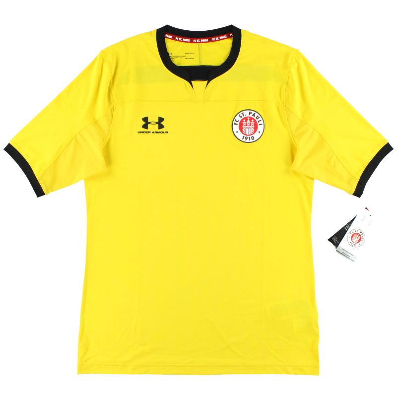 2019-20 St Pauli Under Armour Yellow Goalkeeper Shirt *w/tags* 2XL - 1332345