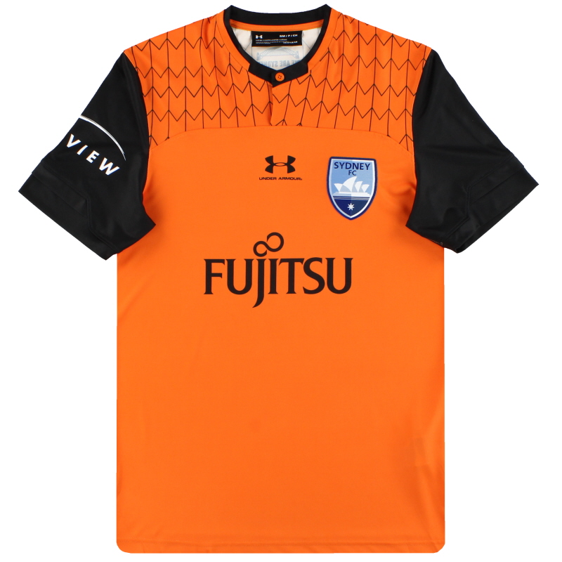 2019-20 Sydney FC Under Armour Player Issue Orange Goalkeeper Shirt *As New* S - SYJR140M