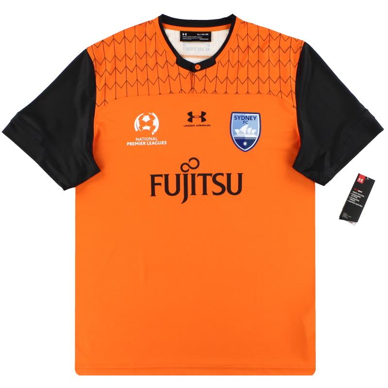 2019-20 Sydney FC Under Armour Player Issue Orange Goalkeeper Shirt *w/tags* XL - SYJR137