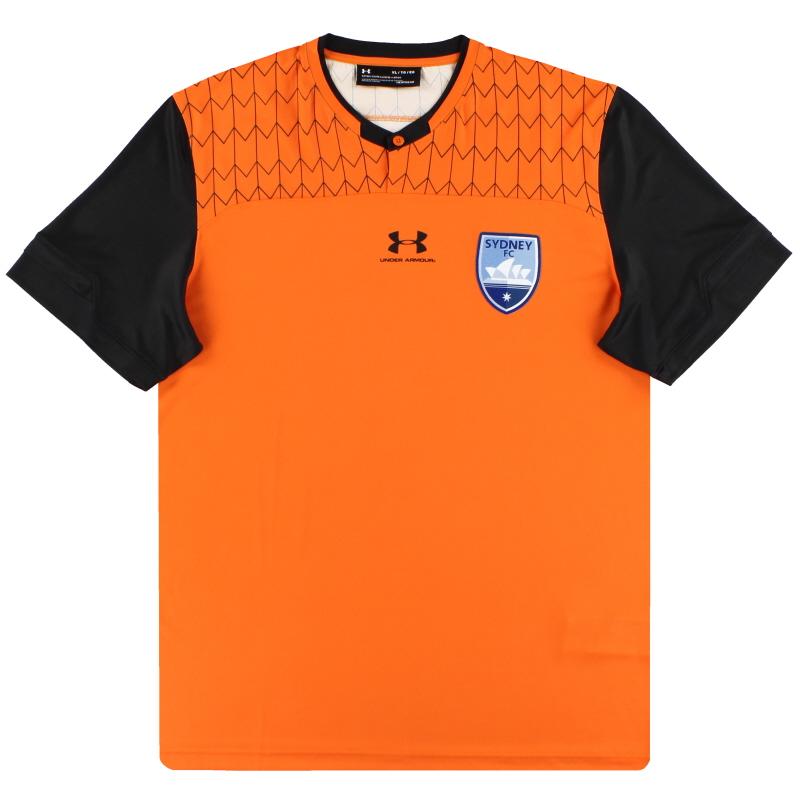 2019-20 Sydney FC Under Armour Player Issue Orange Goalkeeper Shirt *As New* L - SYJR143