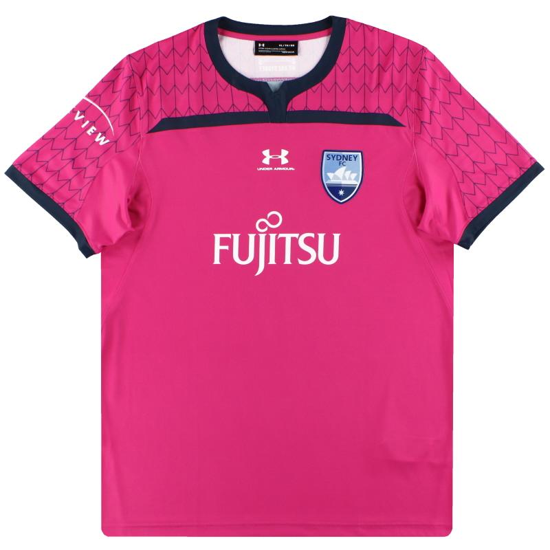 2019-20 Sydney FC Under Armour Pink Goalkeeper Shirt *As New* L - SYJR139
