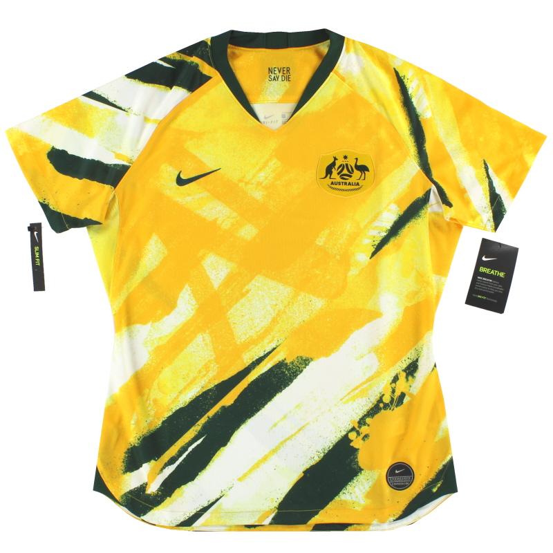 2019 Australia Nike Womens Home Shirt *BNIB* S - AJ4388-397