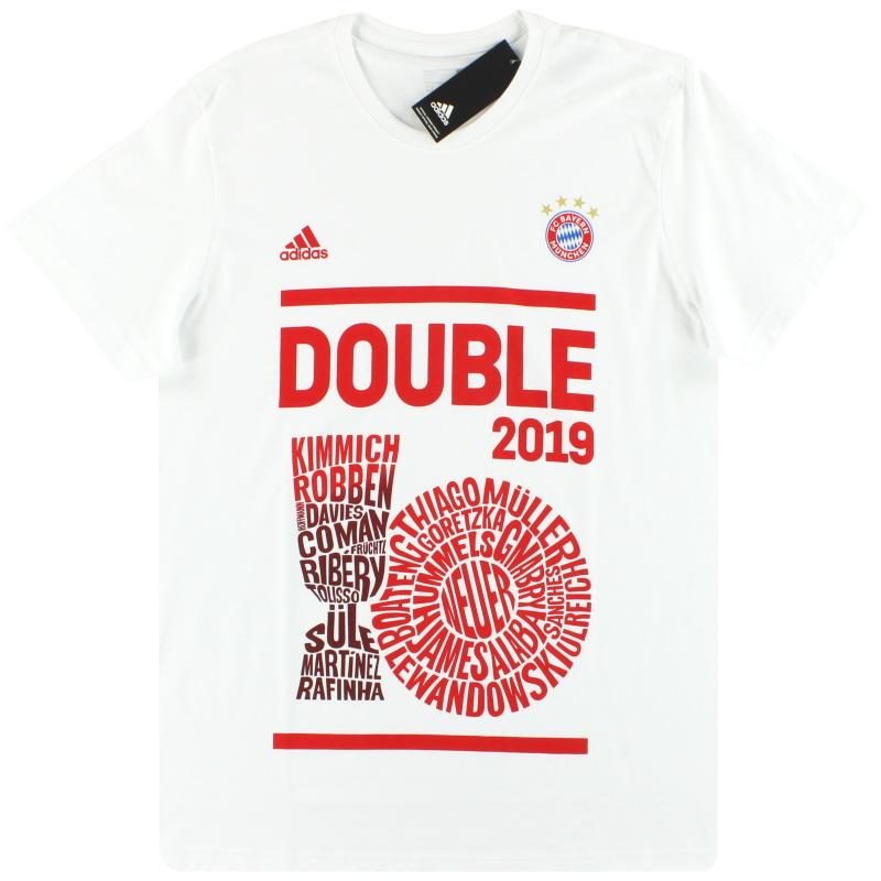 2019 Bayern Munich adidas Double Winners Tee *BNIB* S - GE5479
