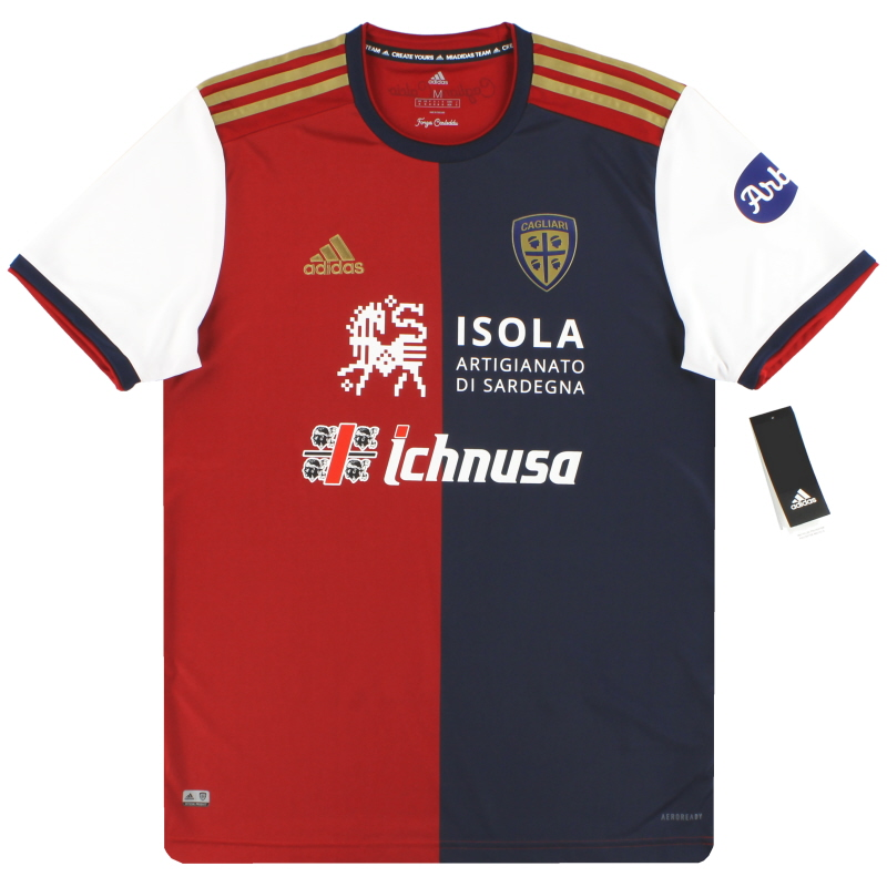 2020-21 Cagliari adidas Centenary Home Shirt *w/tags* - CE8714