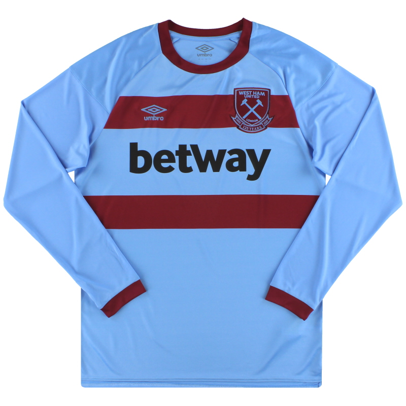 2020-21 West Ham Umbro '125 Years Away Shirt L/S *As New* S - 92055U