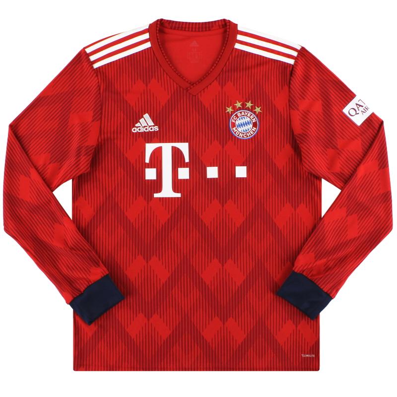 2108-19 Bayern Munich adidas Home Shirt L/S M - CF5430