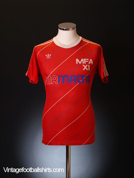 Circa 1986-87 Malta Match Worn Home Shirt #11 M