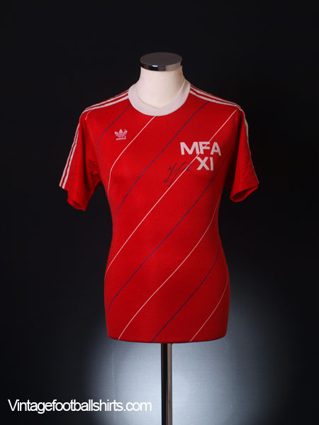 Circa 1986-87 Malta Signed Match Issue Home Shirt #4 L