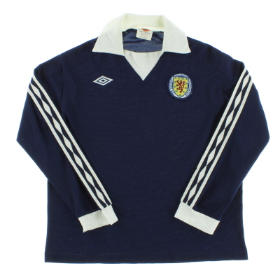 1976-79 Scotland Home Shirt L/S M