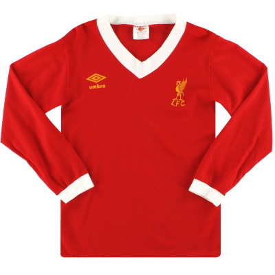 1979-82 Liverpool Umbro Home Shirt L/S *Mint* S