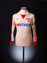 1982-83 Malta Match Worn Away Shirt #2 L/S L