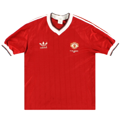 1982-84 Manchester United adidas 'FA Cup Winners' Home Shirt L