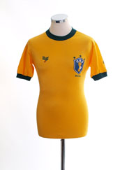 1983 Brazil Match Issue Home Shirt #18 (Isidoro) vs. Wales