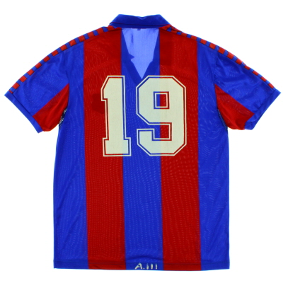 1982-89 Barcelona Match Issue Home Shirt #19 L