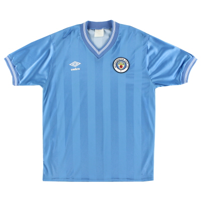 1983-85 Manchester City Home Shirt M